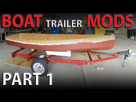 harbor freight boat trailer bunks harbor freight boat trailer upgrades adding a winch