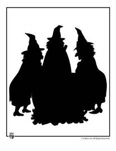 Witch Silhouette Template by Witches Cauldron Template Woo Jr Activities