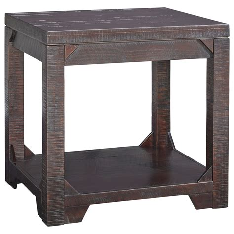 accent tables ashley furniture signature design by ashley rogness rustic rectangular end