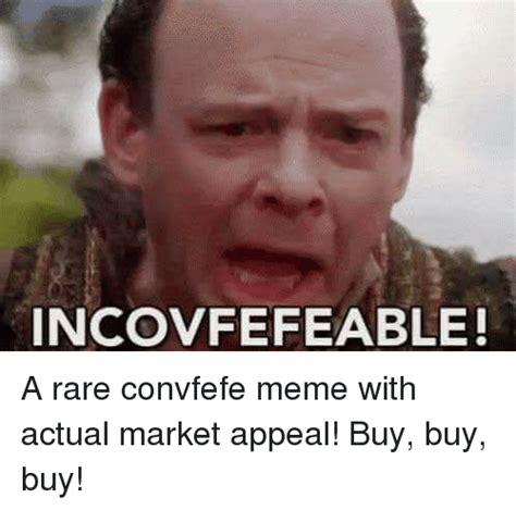 Meme Market - incovfefeable meme on sizzle