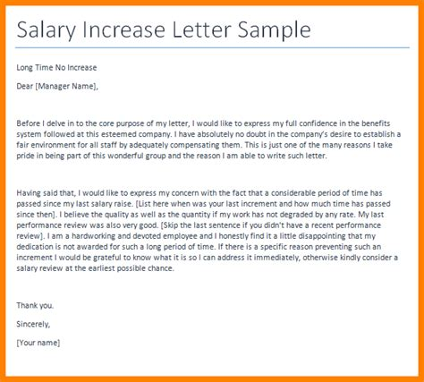 thanking letter to for salary increment 8 sle salary increase letter to employer sales slip