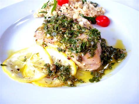 baked tuna with herbacious gremolata proud italian cook