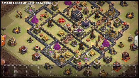 layout cv9 war youtube clash of clans testando o layout de guerra cv9 anti pt