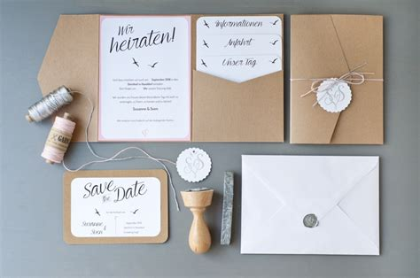 Hochzeitseinladung Diy by Unsere Hochzeitseinladungen Serendipity