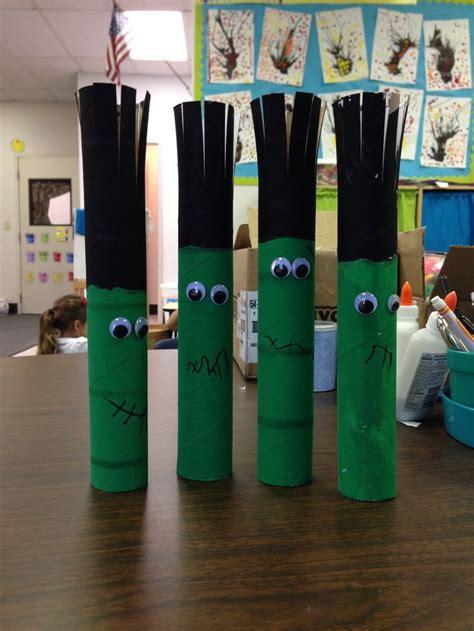 Craft With Paper Towel Roll - frankenstein paper towel roll craft school days