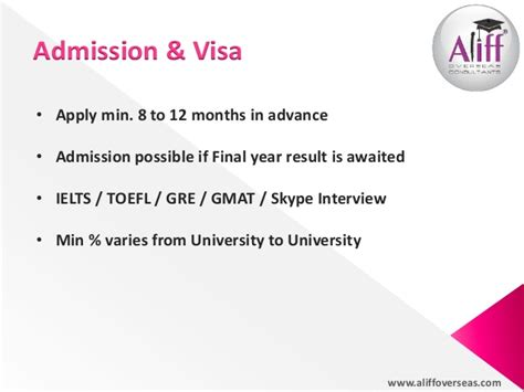 Gmat Waiver For Mba In Canada by Aliff Overseas Consultants