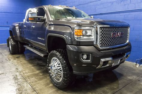 lifted gmc dually used lifted 2015 gmc 3500 denali dually 4x4 diesel