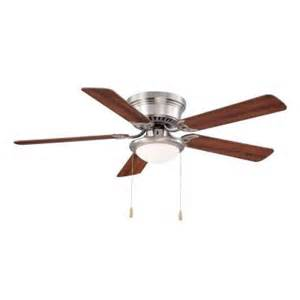 Ceiling Fan With Blades That Open Up Hugger 52 In Brushed Nickel Ceiling Fan Al383 Bn The