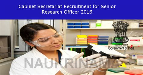 Cabinet Secretariat Govt Of India by Cabinet Secretariat Recruitment For Research Officer 2016
