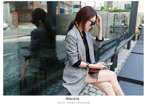 Coat Wanita Wedges Import Abu Abu coat abu abu panjang import 2016 model terbaru jual murah import kerja