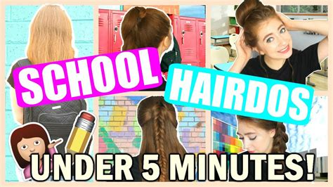 5 easy hairstyles for school rclbeauty101 back to school heatless hairstyles 2016 no heat easy