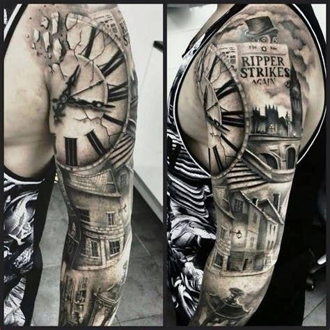 black and grey heaven tattoos r 233 sultat de recherche d images pour quot black and gray half