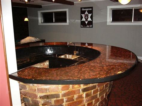 Penny Bar Top   Time   Pinterest   Of, Pennies and Bar tops
