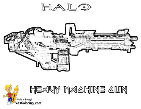 free coloring pages of machine guns hardy halo reach coloring printables free halo reach
