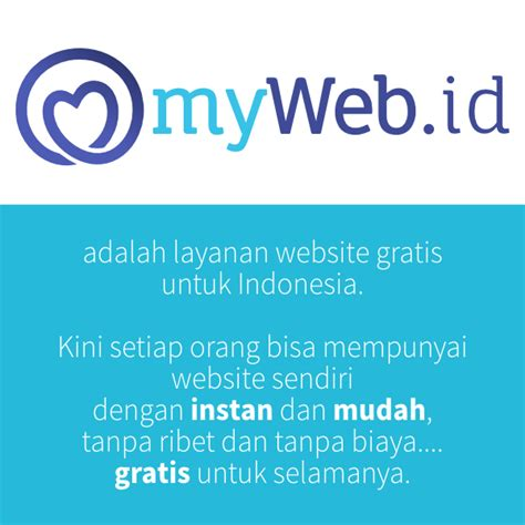 membuat website instan gratis myweb id adalah layanan website instan mudah dan