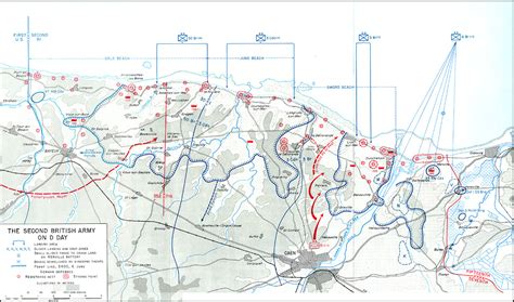 d day map d day second army map