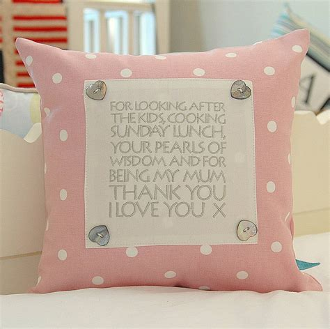 Personalised Cusion personalised cushion for mothers by the alphabet gift shop notonthehighstreet