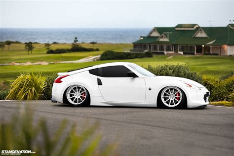 nissan 370z slammed built to order peter s slammed 370z stancenation
