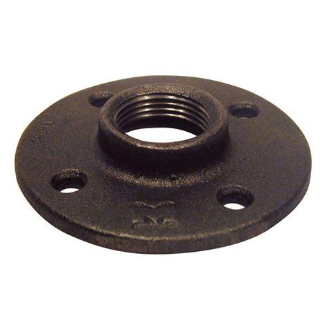 black malleable iron threaded floor flange  hn  home depot