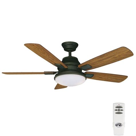 oil rubbed bronze ceiling fan no light hton bay latham 52 in indoor oil rubbed bronze ceiling