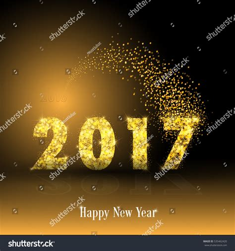 new year background gold happy new year 2017 gold particles glowing background