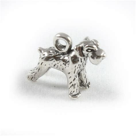 Charm  UK > Sterling Silver Charms > Dogs > Schnauzer