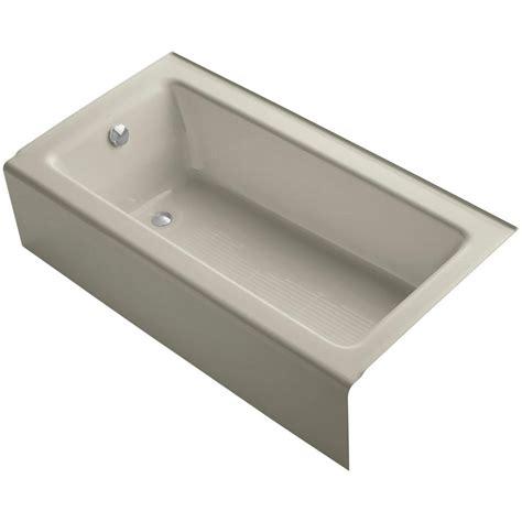 bellwether bathtub kohler bellwether 5 ft left drain soaking tub in sandbar