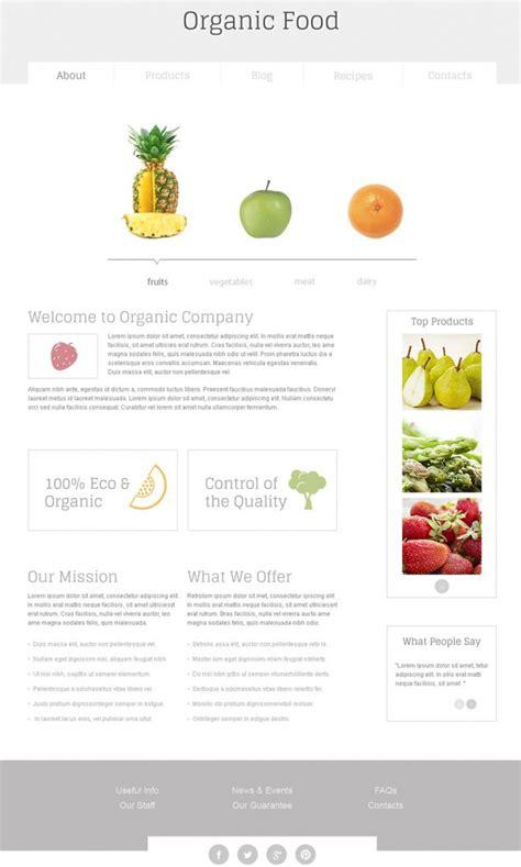 joomla template organic food nutrition free html template free templates online
