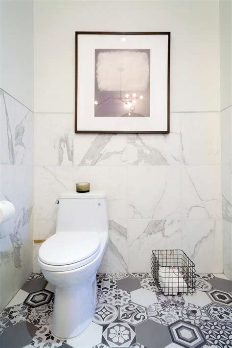grey mosaic bathroom white marble bathroom with gray mosaic hex tile floor modern bathroom