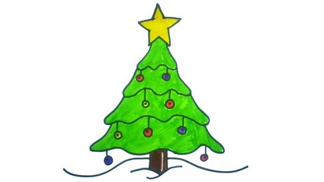 how to draw christmas tree easy how to draw a tree easy and on paper for