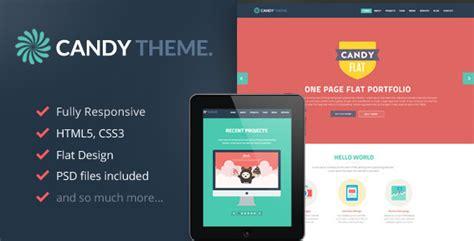 wordpress themes free responsive flat design candy onepage flat responsive wordpress theme by