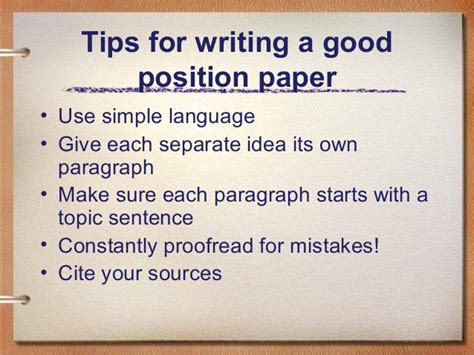 how to write a postion paper position paper