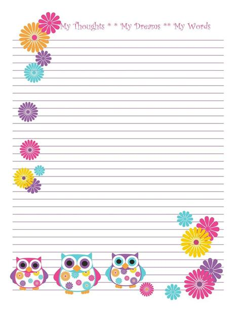 printable stationery owls 14 best free printable owl stationary images on pinterest