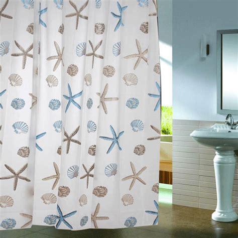 starfish bathroom decor shell starfish waterproof shower curtain bathroom decor alex nld