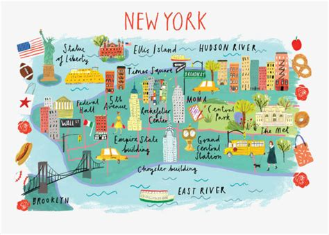 map de new york new york map new york attractions travel png