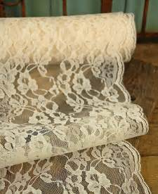 Ivory Vases Lace Ivory 9in Wide X 9 Yds