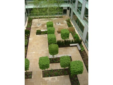 office courtyard design commercial landscaping portfolio roche products ltd 163