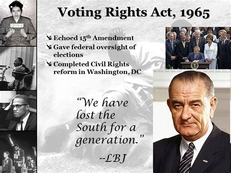 voting rights act of 1965 section 4 so far we on the left don t have the fire the right has to