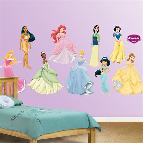 disney princess bedroom stickers beauty disney princess wallpaper for kids room on