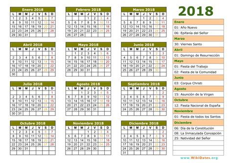 Calendario Es Calendario 2018 Calendario De Espa 241 A 2018