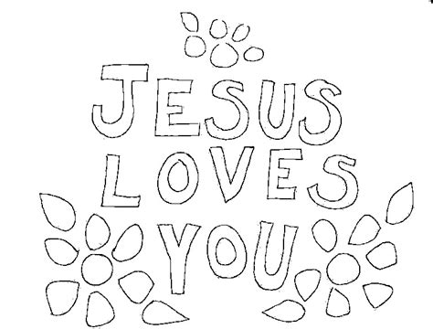 Jesus You Coloring Page