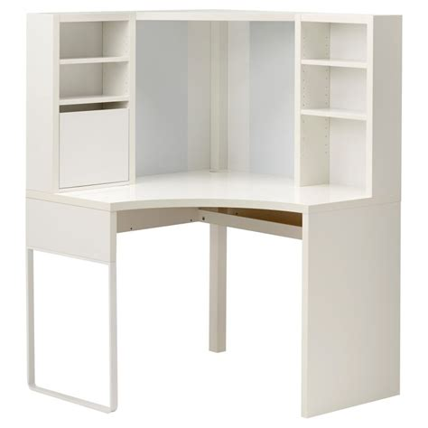 White Corner Desk With Hutch Micke Corner Workstation White Trends With Ikea Desk Hutch Images Pinkax