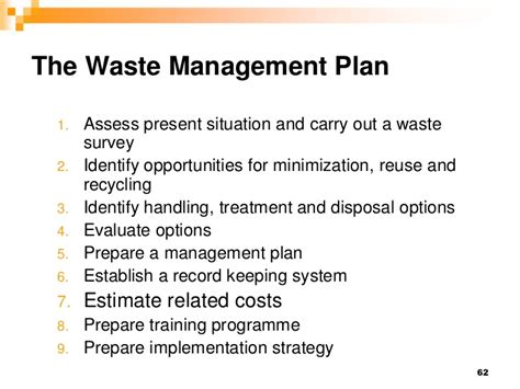 waste management strategy template hm 2012 session vi waste management
