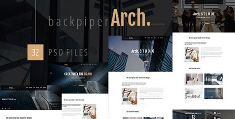 backpiperarch architecture interior portfolio psd