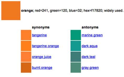 color synonyms produces synonyms picture and images