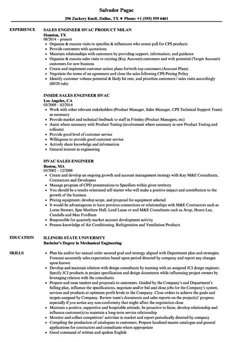 hvac resume objective sles hvac sales engineer resume sles velvet
