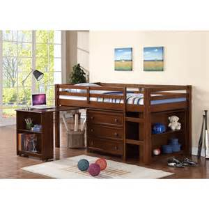 Bunk Bed With Desk And Dresser Wood Low Loft Bunk Bed For With Trundle Desk And Dresser Underneath Decofurnish
