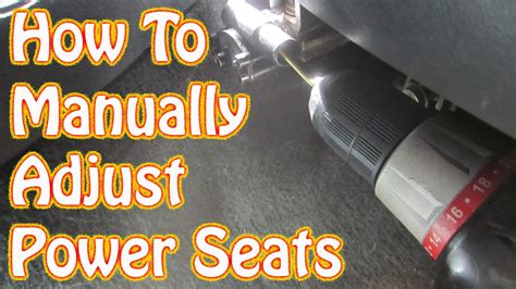 ford f150 power seat problems diy how to manually adjust power seats in a gmc chevy