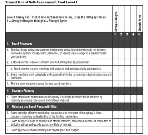 risk self assessment template file transit board self assessment form jpg