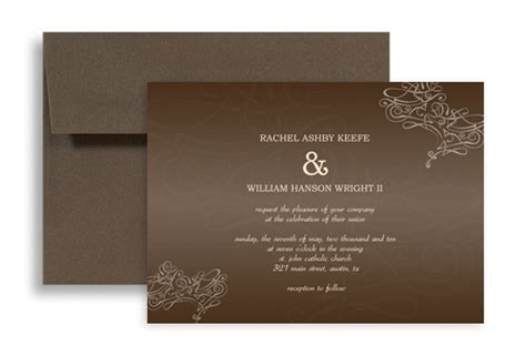 horizontal wedding invitation templates bells pattern design printable wedding invitation 7x5 in